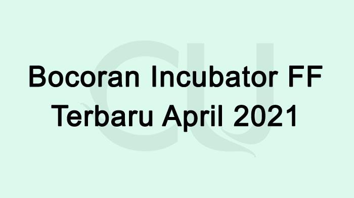 Bocoran Incubator FF Besok 22 April 2021